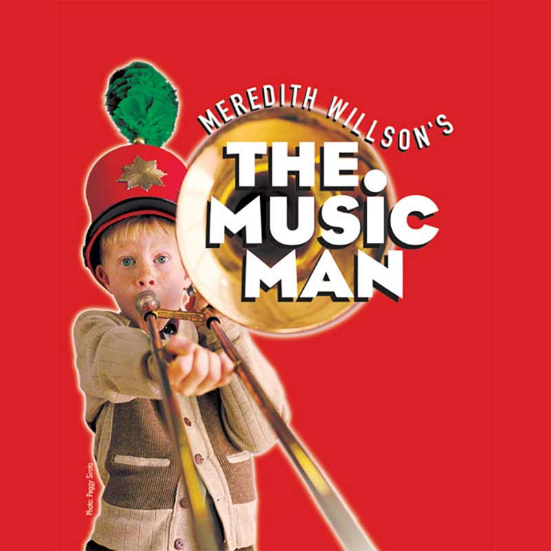 The Music Man Broadway set rental, props rental, drops, rental and projections rental