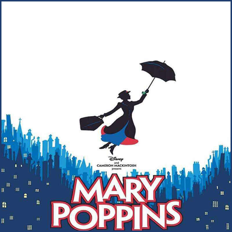 Mary Poppins Broadway set rental, props rental, drops, rental and projections rental
