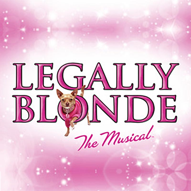 Legally Blonde Broadway set rental, props rental, drops, rental and projections rental